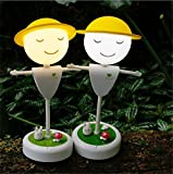 LUCKY CLOVER-AChristmas Gift Doll Creative Scarecrow LED Night Light Touch/Vibration Sensor Dimmable Lamp USB Rechargeable LED Table Lamp Children Desk Lamp for Baby Room Decoration , Couple