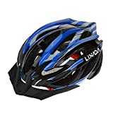Lixada Bicycle Helmet Mtb/Road Bike Helmets Cycling Mountain Racing, Men Women Keep Safety, Adult Child Kids, with 21 Vents Adjustable Ultralight Integrally-molded, Color Blue