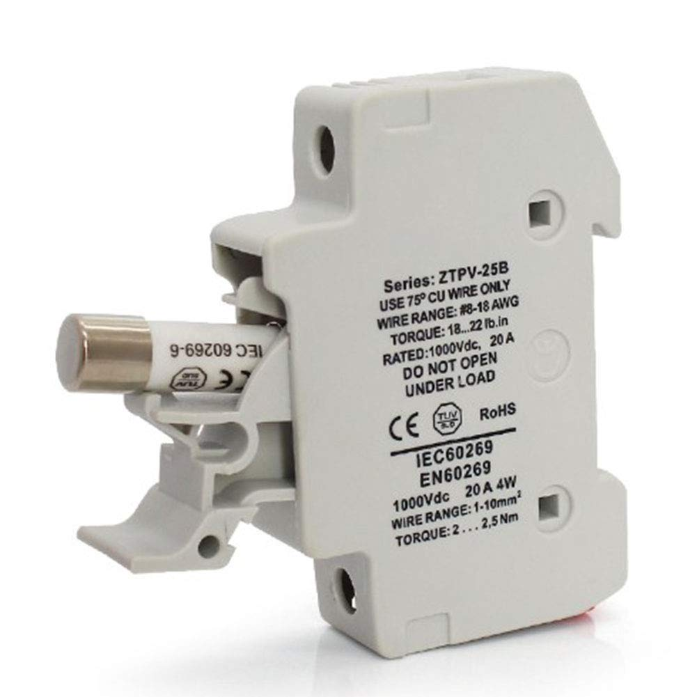 XuBa High Power 1000Vdc25//30//32A Solar-Sicherungsrohr 30A//1000Vdc