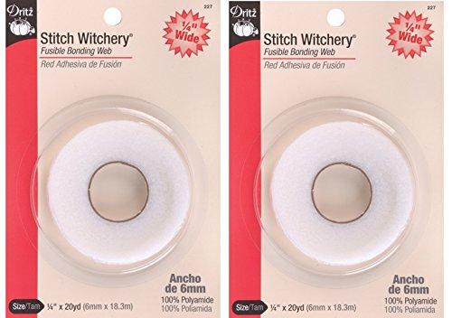 Dritz 227 1/4-Inch by 20-Yard Stitch Witchery, Regular (2 Pack)