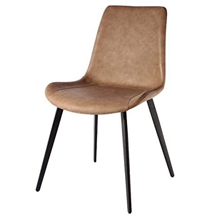Stupendous Amazon Com Faux Leather Chairs Concise Dining Chairs Evergreenethics Interior Chair Design Evergreenethicsorg