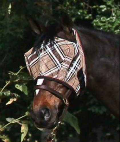 kensington-kpp-fly-mask-with-web-trim-deluxe-red-plaid-large