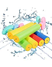 Auney Water Toy for Kids, 6-Pack Water Blaster Set Squirt Guns Outdoor Swimming Beach Party Pool Toys for Kids and Adults