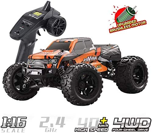 GHDE& Coche RC a Escala 1:16 40 km/h 4WD Off Road Remote Control Car 2.4Ghz Radiocontrolado RC Truck Monster Truck Juguetes Todoterreno para niños y Adultos