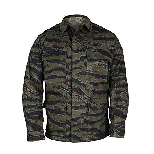 Propper Mens Genuine Gear BDU Coat 60C/40P Tiger Stripe XL Reg (Bdu Jacket Tiger Stripe)