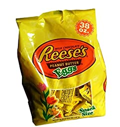 Reese\'s Peanut Butter Cup Eggs Easter Candy 38 Ounce Bag