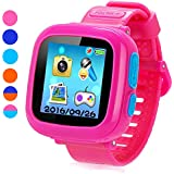 """Game Smart Watch for Kids, Kids Smartwatch, Children's Camera 1.5 """"Touch Screen Pedometer 10 Games Timer Alarm Clock Health Monitor Boys Girls Game Watches(Pink)"""