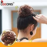 Leeons Wavy Messy Bun Extensions Curly Donut Chignons Updo Wig Scrunchy Scrunchie Synthetic Hair Pieces With Elastic Hair Tie (#30H33)