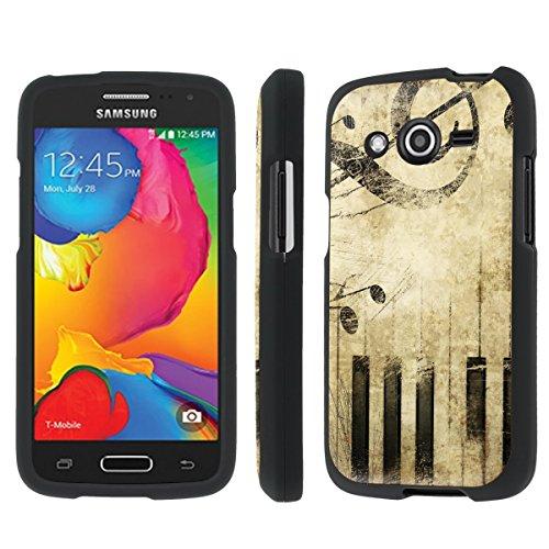 NakedShield Samsung Galaxy Avant G386 (Music vintage) Total Hard Armor LifeStyle Black Phone Case