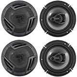 (4) Rockville RV6.3A 6.5 3-Way Car Speakers 1500 Watts/280 Watts RMS CEA Rated