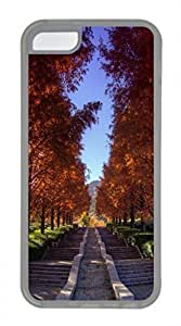iPhone 5c case, Cute Beautiful Stairs In The Park iPhone 5c Cover, iPhone 5c Cases, Soft Clear iPhone 5c Covers