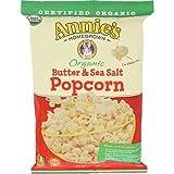 Annies Homegrown Organic Butter and Sea Salt Popcorn, 4 Ounce - 12 per case.