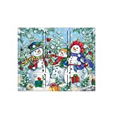 The Carolers Byers' Choice Snowman Family Wooden Advent Calendar
