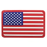 Belloc USA Tactical Patch - National Flag Patch American Flag Magic Stickers Badge Decoration for Boys, 1/4 Pc (America)