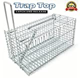 Rat Trap , Rats and Mice Live Humane Cage Trap , One-Door small animal Pest Control Rodents Catcher - By Trap Top