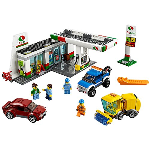 LEGO City Town 60132 Service Station Building Kit (515 Piece) - Kc 10 Tanker