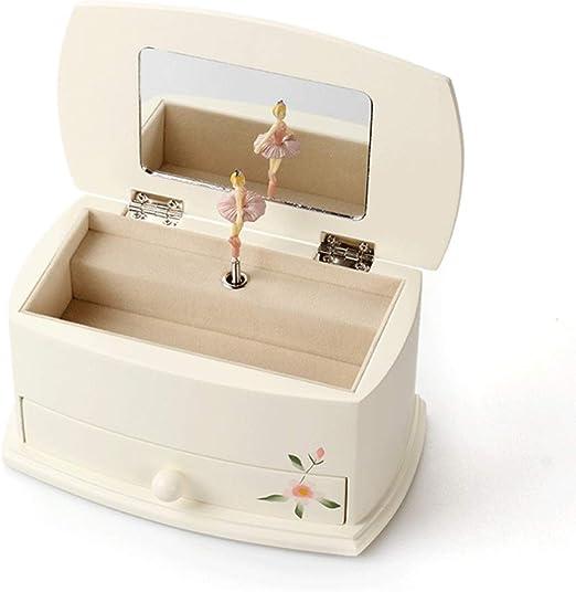 KGDC Caja de música Joyería Caja de música Pintado a Mano de la Caja esférica Caja