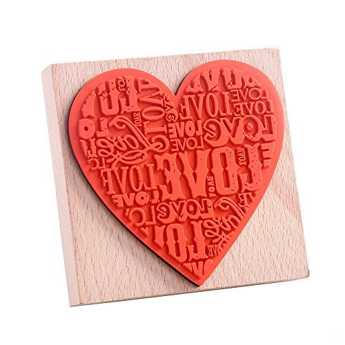 - Decora Large Love Wooden Rubber Stamp-01