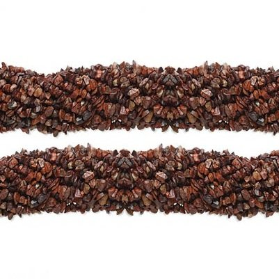 (Chip Brecciated Jasper Gemstone Beads 4x7mm 36 Inch)