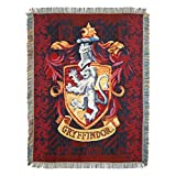 Harry Potter, 'Gryffindor Shield' Woven Tapestry Throw Blanket, 48' x 60', Multi Color