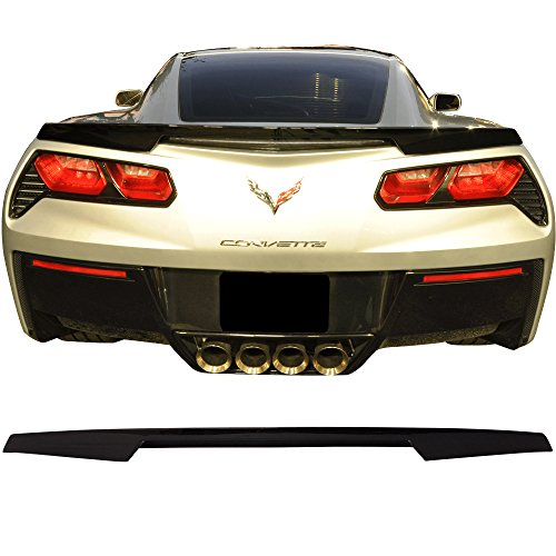 Pre-painted Trunk Spoiler Fits 2014-2018 Chevrolet Corvette C7 | Painted Black # WA8555 ABS Car Exterior Trunk Spoiler Rear Wing Tail Roof Top Lid other color available by IKON MOTORSPORTS ()