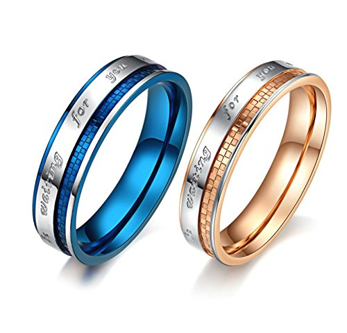 Bishilin Couple Rings Stainless Steel Engraving