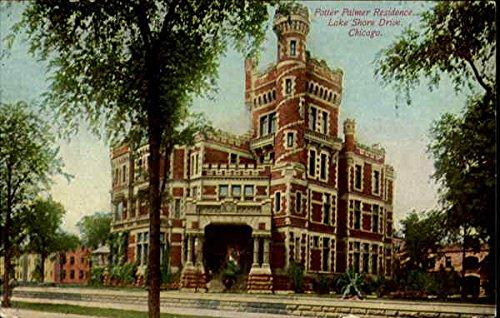 Potter Palmer Residence, Lake Shore Drive Chicago, Illinois Original Vintage Postcard