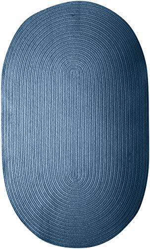 Colonial Mills Bristol Polypropylene Braided Rug, 2-Feet by 3-Feet, Federal Blue