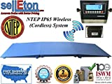 Selleton Ntep Floor Scale 48'' X 48'' (4' X 4') Wireless Cordless 2 Ramp 10000 Lbs X 2 Lb