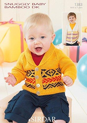 - Sirdar Baby Cardigans Knitting Pattern 1383 DK