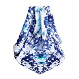 Blue and White Silk Scarf Women Shawl Elegant Scarves Scarves for Ladies