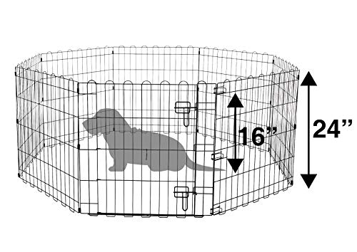 51f PANtJ L Amazon Basics – Faltbares Metall-Gehege mit Tor, für Haustier, Hund, Trainingszaun, 152,4 x 152,4 x 60,9 cm & Puppy Pads…
