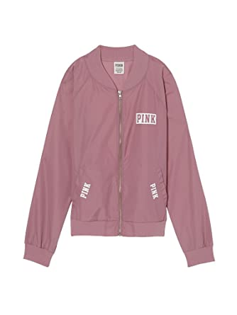 0989ce5c4 Victoria's Secret PINK Bomber Jacket Autumn Rose (Small) at Amazon ...