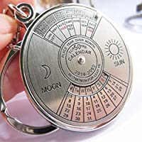 Calendar Perpetual Keyring Keychain Unique Metal Key Chain Ring 50 Years New Hot