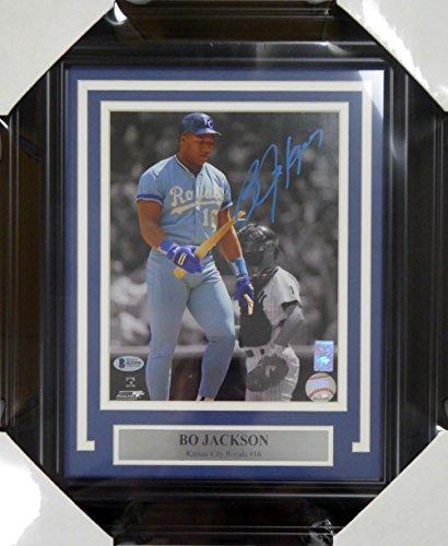 Bo Jackson Autographed Framed 8x10 Photo Kansas City Royals Beckett - Helmet Autographed Bo Jackson