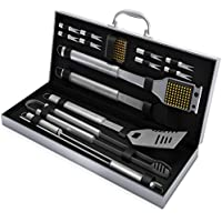 BBQ Grill Tool Set- 16 Piece Stainless Steel Barbecue...