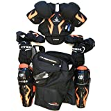 New senior ice hockey pants gloves shin elbow shoulder pads Sr set equipment kit