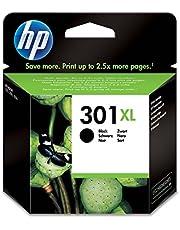 HP 301XL Cartouche d'Encre Noir Grande Capacité Authentique pour HP Envy 4505 et HP DeskJet 1050/1512/2548/3057A (CH563EE)