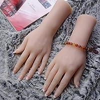Acturen 28Cm Real Hand Mannequin Body Manicure Props Jewelry Model Art Hand Mannequin Halloween Man Finger 1PC C747