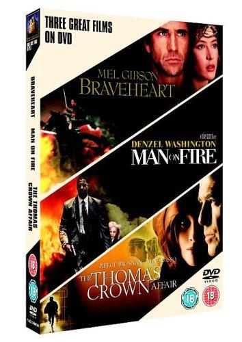 Braveheart/Man On Fire/The Thomas Crown Affair [Import anglais]