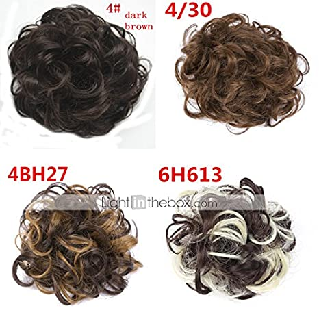Generic Hair Extension Pony Tail Bride Bun Hairpiece Fake Hair Scrunchie  Wavy Q7(4BH27)  04443677  Amazon.in  Beauty 54f0bd53a