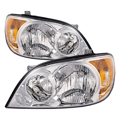 HEADLIGHTSDEPOT Compatible with Kia Sedona LX EX Headlights OE Style Replacement Driver/Passenger Pair New
