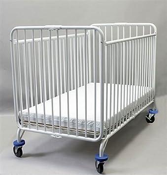 LA Baby Full Size Metal Folding Crib