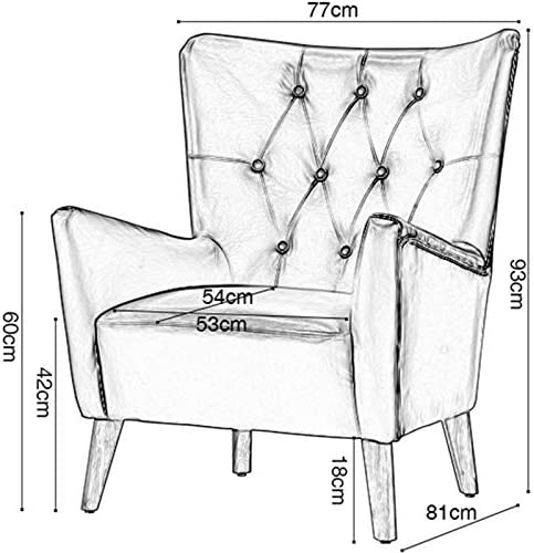 guohailang Fauteuil Fauteuil Lounge for Salon Chambre Bureau pour Salon Chambre (Color : Orange, Size : Medium)