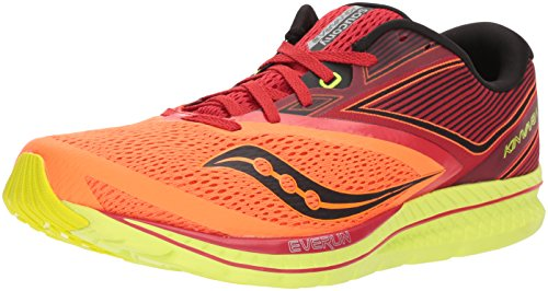 Saucony Men's Kinvara 9 Running Shoe, Orange/Red, 9 Medium US