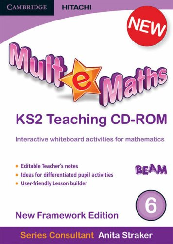 Read Online Mult-e-Maths Teaching CD-ROM 6: New Framework Edition PDF