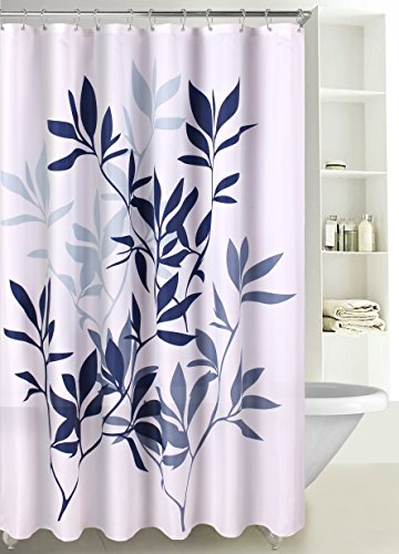 LuxuryDiscounts Fabric Shower Curtain Multicolor Forest Leaves, SC-03 (72