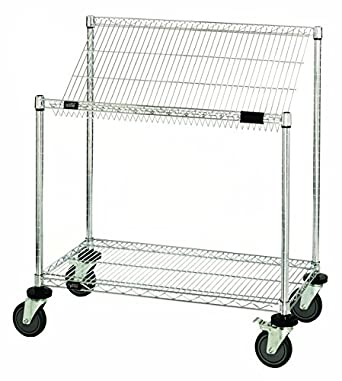 Modular Wire Shelving | Quantum Storage Systems M1836sl34c 2 Tier Wire Shelving Work Station