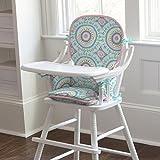 Carousel Designs Aqua Haute Baby High Chair Pad
