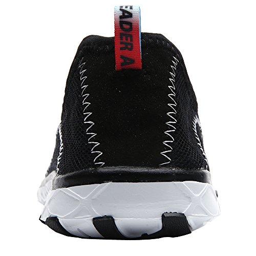 Lacets Homme Noir Sans Chaussures Pour D'eau Aleader qngaAUFn